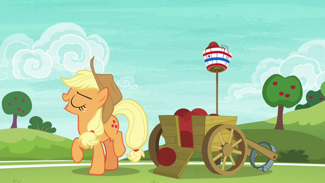 "File:Applejack ""the Apple family's buckball reputation"" S6E18.png"