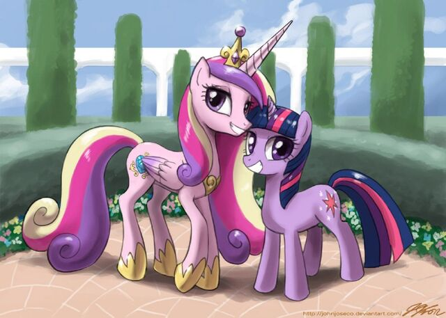 File:FANMADE Twilight and Cadance.jpg