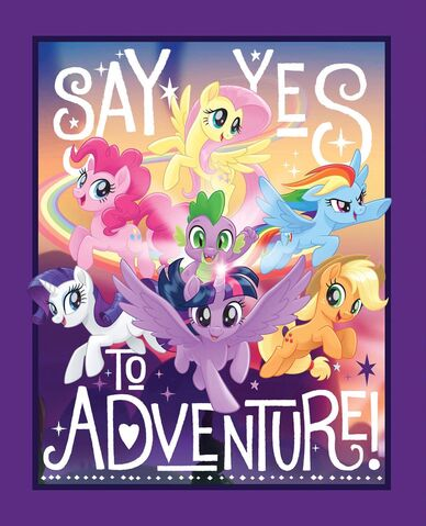File:MLP The Movie Say Yes to Adventure! woven cotton fabric by Etsy.jpg