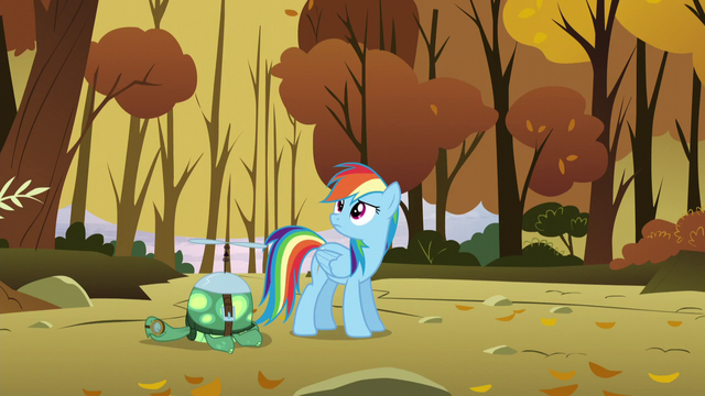 "File:Rainbow hears Sunshower saying ""Here comes the next shipment!"" S5E5.png"