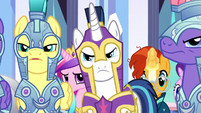 Shining Armor and royal guards unconvinced S6E16