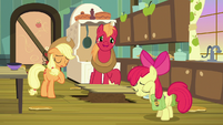 AJ, Apple Bloom, and Big Mac sigh in relief S7E13
