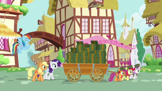 File:Crusaders hauling cart of boxes at afternoon S6E15.png