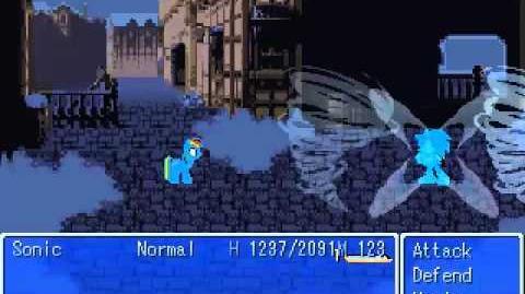 Adventures in Equestria battle test - Sonic vs Corrupt Rainbow