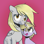 Derpy and Dinky Hooves by EpicVinylScratch