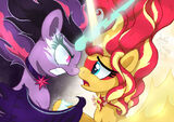 Equestria Girls - Evil Twilight And Good Sunset by Joakaha