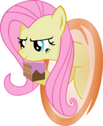 Fluttershy has a piece of cake