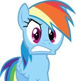 Rainbow Dash isn't pleased