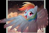 Animu Rainbow Dash by NabbieKitty