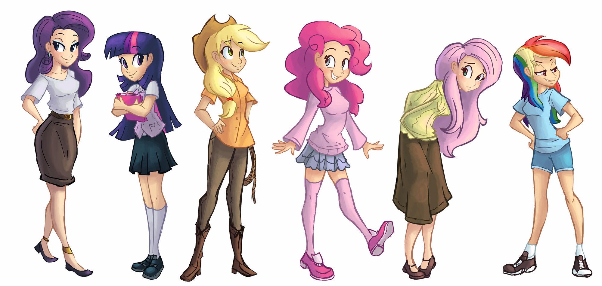 Humanized ponies My Little Pony