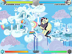 Rainbow Dash vs Fluttershy Cloudsdale Fighting is Magic