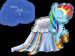 Rainbow Dash Gala Fashion Dress by artist-selinmarsou