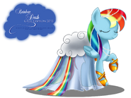 Rainbow Dash Gala Fashion Dress by artist-selinmarsou
