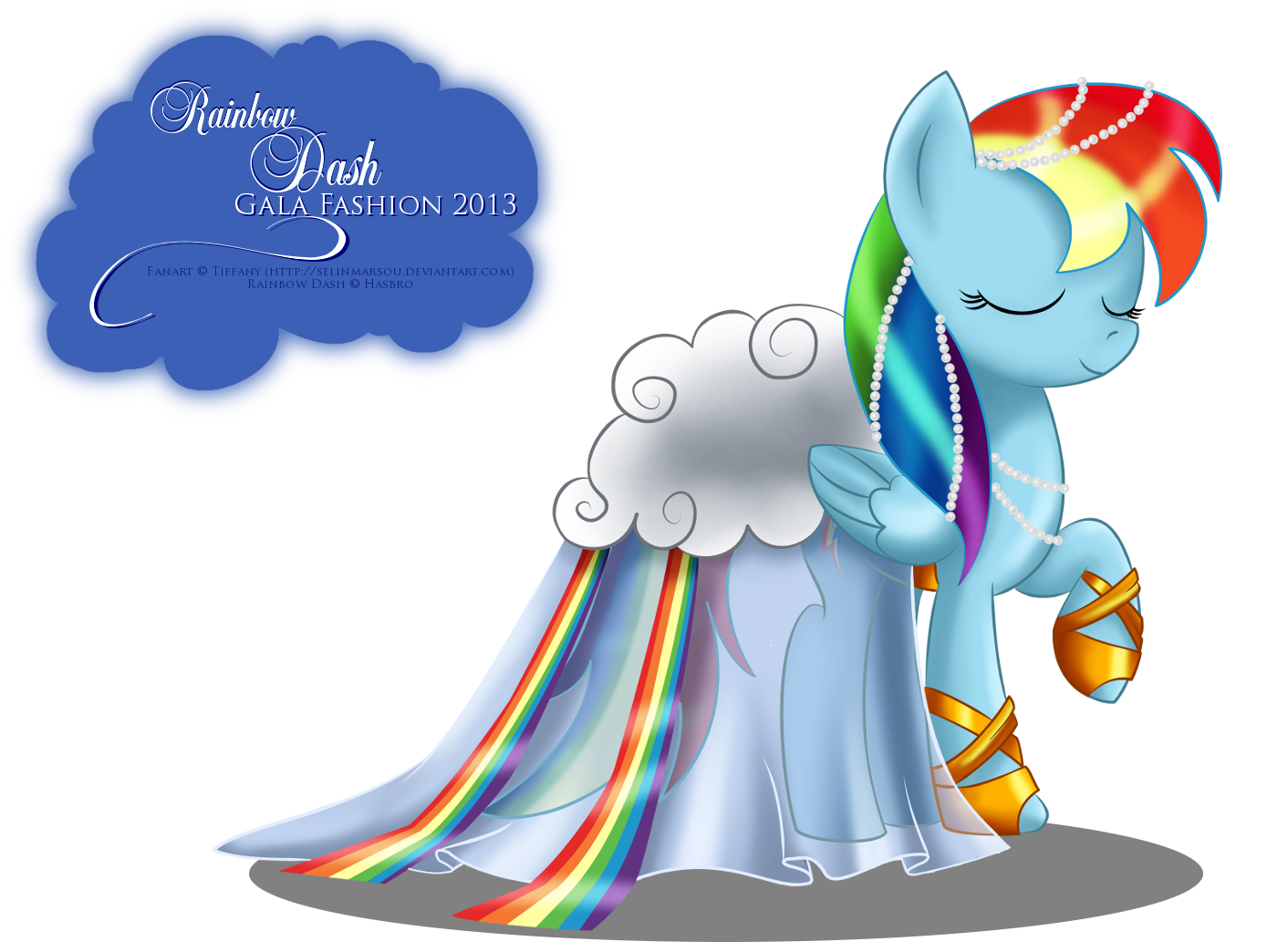Image Rainbow Dash Gala Fashion Dress By Artist My Little Pony Fan Labor