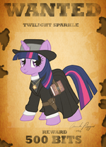 Twilight Sparkle being wanted by artist-touchofsnow