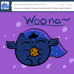 Woona blob with a cookie