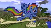 FANMADE Rainbow Dash Minecraft v3