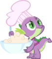 Whadaya mean dragons don't bake Spike vector by shadowweaver97.png