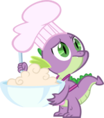 Whadaya mean dragons don't bake Spike vector by shadowweaver97