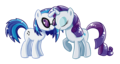 Vinyl Scratch and Rarity shipping.png