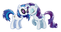 Vinyl Scratch and Rarity shipping