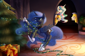 Princess Celestia and Princess Luna in Christmas Days