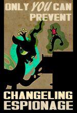 Changeling Chrysalis duplicate element of magic propaganda by PixelKitties
