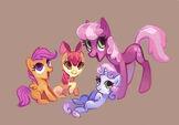 183441 - apple bloom artist-Holivi cheerilee cmc Cutie Mark Crusaders scootaloo Sweetie Belle