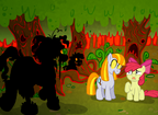 33965 - Apple Bloom oc Ruby Story of the Blanks zombie
