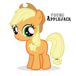Applejack Filly by Blackm3sh