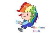 Rainbow Dash in EarthBound
