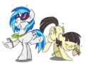 Vinyl Scratch and Wild Fire Rock Out by sophiecabra.png