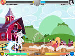 Applejack vs Rarity Sweet Apple Acres Fighting is Magic