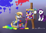 Derpy painting Rarity