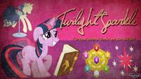 Twilight Sparkle wallpaper by artist-utterlyludicrous