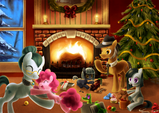 Pinkie Pie and her family enjoying their Christmas