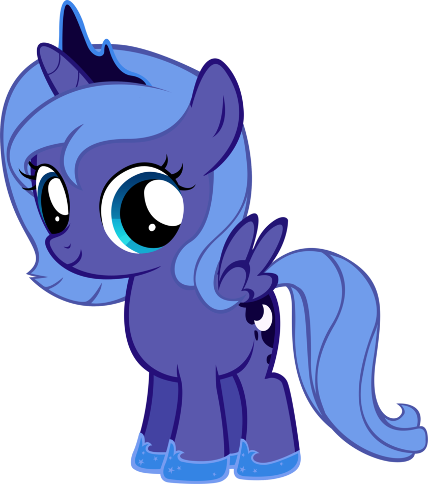 Image luna filly by my little pony for Mlp coloring pages luna