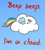 Rainbow Dash cloud