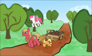 Sunny Skies All Day Long coverart Equestria Daily