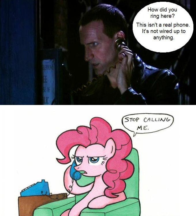 Image 70334 Safe Pinkie Pie Meta Doctor Who Tardis Phone