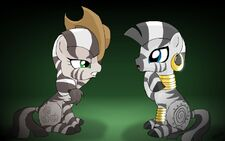 Zebrajack and Zecora by alfa995