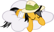 Daring do sleeping on a cloud by KennyKlent