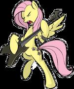 Metal Fluttershy by RainbowDerpy