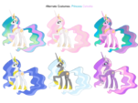 Princess Celestia costumes 2 by artist-blackm3sh