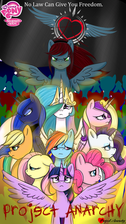 Project Anarchy Title Poster mock cover art by MLP-ProjectAnarchy