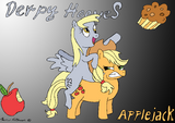 Derpy Hooves and Applejack