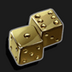 Gold Plated Dice