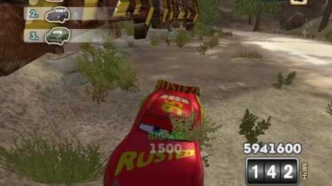 Cars Mater-National Cars 3 (Gold Rusteze) Lightning