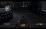 NX8 Handgun Aiming down the Sight