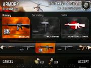 MC2-Class selection screen